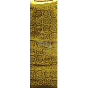 Nekupto Darčeková papierová taška hologram na fľašu 33 x 10 x 9 cm Zlatá 050 01 THLH