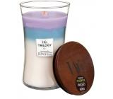 WoodWick Trilogy Calming Retreat - Uklidňující a relaxační vonná svíčka s dřevěným knotem a víčkem sklo velká 609,5 g