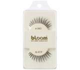 Bloom Natural nalepovací řasy z přírodních vlasů obloučkové černé č. 503 1 pár