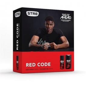 Str8 Red Code deodorant sprej pro muže 150 ml + sprchový gel 250 ml, kosmetická sada