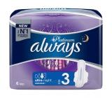 Always Platinum Ultra Night hygienické vložky s krídelkami 6 kusov