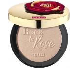 Pupa Rock & Rose Highlighter rozjasňovač tváre so zlatistými odleskami svetla 001 Indecent Rose zlaté 8 g