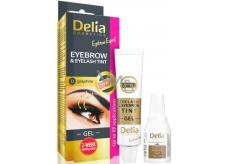 Delia Eyebrow Expert gélová farba na obočie a mihalnice s aktivátorom 1.1. Graphite - šedá 2 x 15 ml