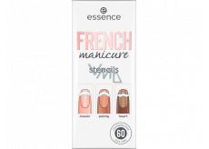 Essence French Manicure Stencils šablóny na nechty 01 Walk The Line 60 kusov
