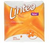 Linteo Classic biele papierové obrúsky 1-vrstvové 33 x 33 cm 100 kusov