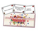 Bohemia Gifts Karty splnených prianí pre deti 20 kusov kariet