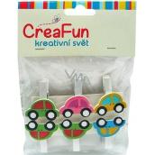 CreaFun Auto kolíček 6 kusů