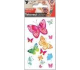Tetovacie obtlačky Motýle vodokresba 10,5 x 6 cm