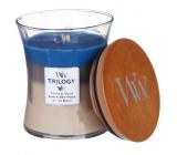 WoodWick Trilogy Nautical Escape - Ráj na pobřeží vonná svíčka s dřevěným knotem a víčkem sklo střední 275 g