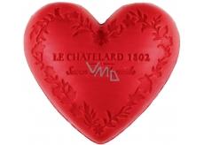 Le Chatelard 1802 Červené ovoce přírodní mýdlo ve tvaru srdce 100 g