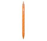 Spoko Flora guľôčkové pero, oranžovej, modrá náplň, 0,5 mm