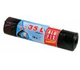 Alufix Economy Sáčky do odpadkového koša zaťahovacej čierne 8 μ, 35 litrov, 53 x 60 cm, 15 kusov