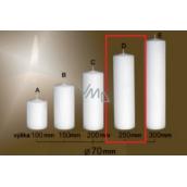 Lima Gastro hladká sviečka biela valec 70 x 250 mm 1 kus