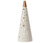 Yankee Candle Magical Christmas keramický svícen na čajovou svíčku stínohra velká 12 x 35 cm