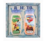 Bohemia Gifts Kids Pat a Mat - Mechanici Jahoda sprchový gél 250 ml + šampón na vlasy 250 ml, pre deti kozmetická sada