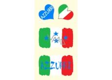 Arch Tetovací obtisky na obličej i tělo Italská vlajka 2 motiv