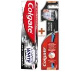 Colgate Slim Charcoal Soft měkký zubní kartáček 1 kus + Colgate Advanced White Charcoal bělicí zubní pasta 75 ml, duopack