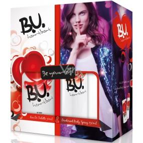 B.U. Heartbeat toaletní voda 50 ml + deodorant sprej 150 ml, pro ženy dárková sada