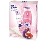 B.U. In Action Tender Touch antiperspitant deodorant sprej pro ženy 150 ml + In Action Yogurt + Fig sprchový gel 250 ml, kosmetická sada