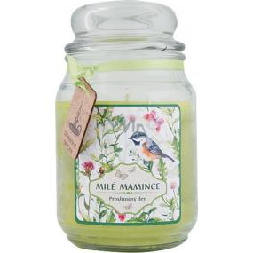 Bohemia Gifts & Cosmetics Milé mamince dárková vonná svíčka ve skle doba hoření 105-120 hodin 510 g