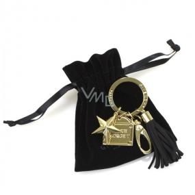 DÁREK Givenchy Přívěsek na klíče zlatý 6 x 3,2 cm
