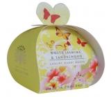 English Soap White Jasmín & Santalové dřevo Přírodní parfémované mýdlo s bambuckým máslem 3x20g