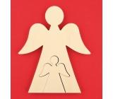 Dřevěný anděl 2 v 1 18 cm