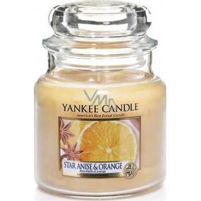 Yankee Candle Star Anise & Orange - Anýz a pomeranč vonná svíčka Classic malá sklo 104 g