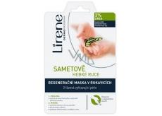 Lirene Zamatovo hebké ruky 3% urea 2 fázová peeling a regeneračné maska v rukaviciach
