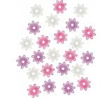 Drevené kvety 2 cm, 24 ks 3922 9195