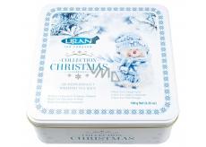 Vianočné balenie čiernych, zelených, bielych čajov snehuliak 6 x 20 x 1,5 g