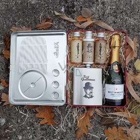 Bohemia Gifts Radio Gentleman darčekový kôš pre mužov