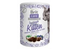Brit Care Cat Snack Chrumkavý kuracie maškrtu s kosom a čučoriedkou doplnkové krmivo pre mačiatka, od 6 týždňov veku 100 g