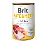 Brit Paté & Meat Kura a hovädzie mäso čisté mäsové paté kompletné krmivo pre psov 400 g