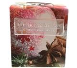 Heart & Home Červené jablko s badyánom Sójová vonná sviečka bez obalu horí až 15 hodín 52 g