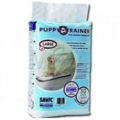 Savic Puppy Trainer Plienky, výchovné podložky pre šteňatá, skvele absorbujúci 60 x 45 cm 30 kusov
