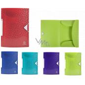Exacopmta OFFIX spisové dosky s gumičkou A4 maxi, PP, 1 kus, mix 5 farieb