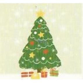 Nekupto Vianočné kartičky na darčeky Stromček 6,5 x 6,5 cm 6 kusov