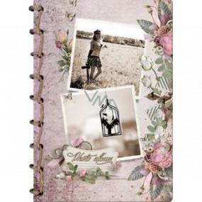 Ditipo Fotoalbum Retro Fotky slečna a klietka B4 24 x 34 cm