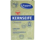 Kappus Kernseife Oliva univerzálny tvrdé prírodné mydlo vyrobené z prírodných látok 150 g