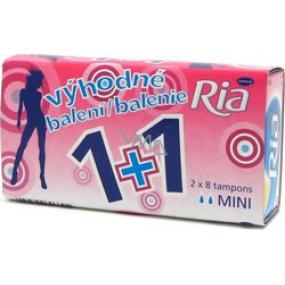Ria Mini dámske tampóny 2 x 8 kusov