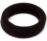 Vlasová gumička čierna 6 x 2 cm