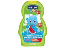 On Line Kids Meloun 2v1 sprchový gel a šampon 250 ml