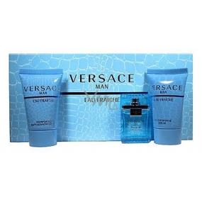 Versace Eau Fraiche Man toaletná voda 5 ml + sprchový gél 25 ml + balzam po holení 25 ml, darčeková sada