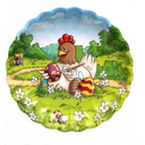 Ditipo Papierový tanier Veľkonočné Sliepočka 22 cm
