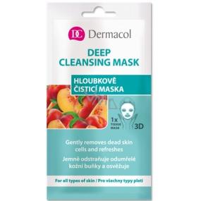 Dermacol Deep Cleansing Mask textilní 3D hloubkově čisticí maska 15 ml