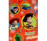 Ditipo Disney Dárková papírová taška pro děti L Happy Holidays 26,4 x 12 x 32,4 cm