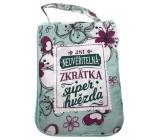 Albi Skladacia taška na zips do kabelky s nápisom Hviezda 42 x 41 x 11 cm