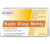 Dr. Bohm Koža Vlasy Nechty doplnok stravy, prispievajú k normálnemu stavu pokožky, vlasov a nechtov 60 tabliet