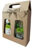 Real Green Clean 2v1 prostriedok na riad a mydlo na ruky dávkovač 500 g + Real Green Clean jemné tekuté mydlo vo vegánskej kvalite 500 g, darčeková sada